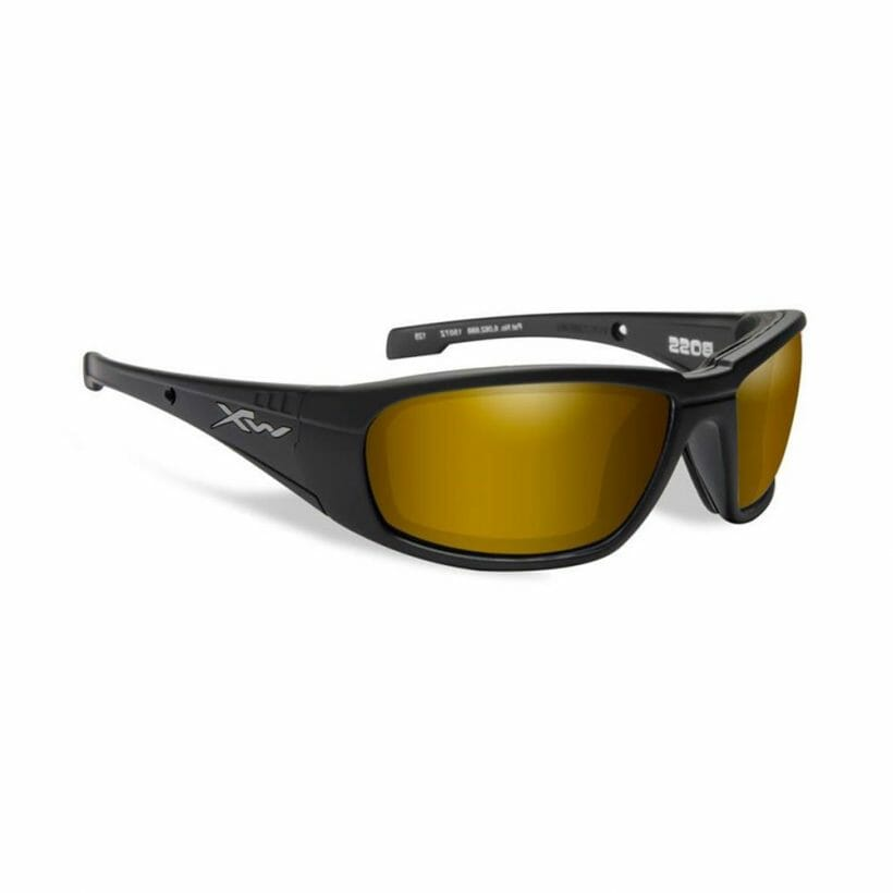 Boss Matte Black Polarized Gold Angle