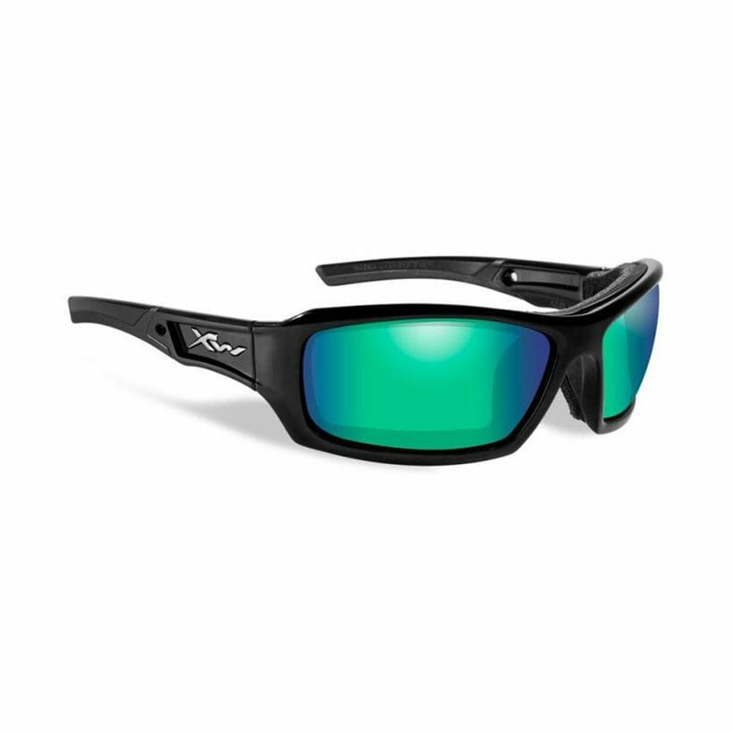 ECHO POL EMERALD MIRROR LENS GLOSS BLACK FRAME