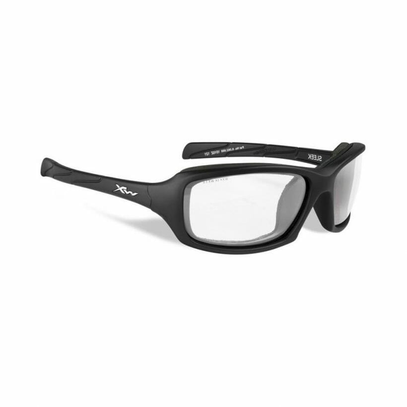 SLEEK CLEAR LENS MATTE BLACK FRAME