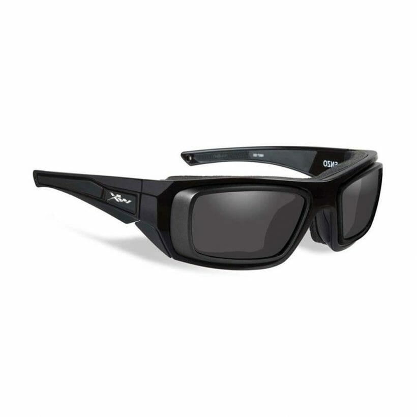 ENZO GLOSS BLACK FRAME W RX RIM & DEMO LENSES