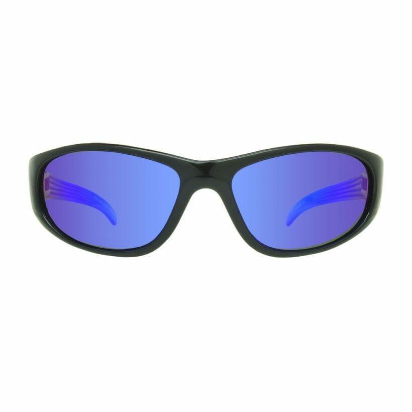 Aero Black Blue Mirror Front