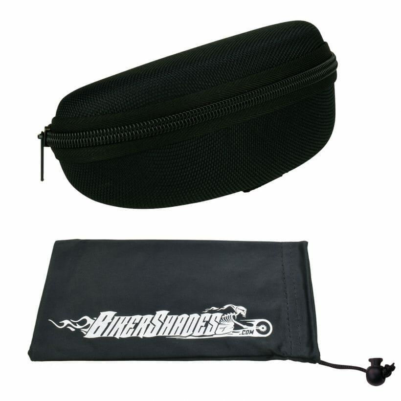 Bikershades Nylon Zipper Case and Microfiber Microfibre