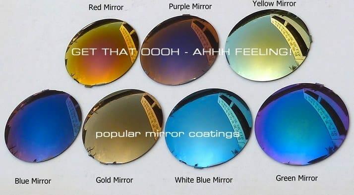Mirror Lenses for prescription motorcycle glasses