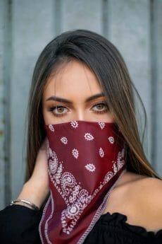 Bikershades.com Bandannas Red Blue Black Navy Black White Mexico Flag