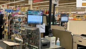 Plexi glass  shield installed at Grocery stores.