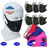 Bikershades Face Masks Black Blue Pink Red Grey with Ventillator