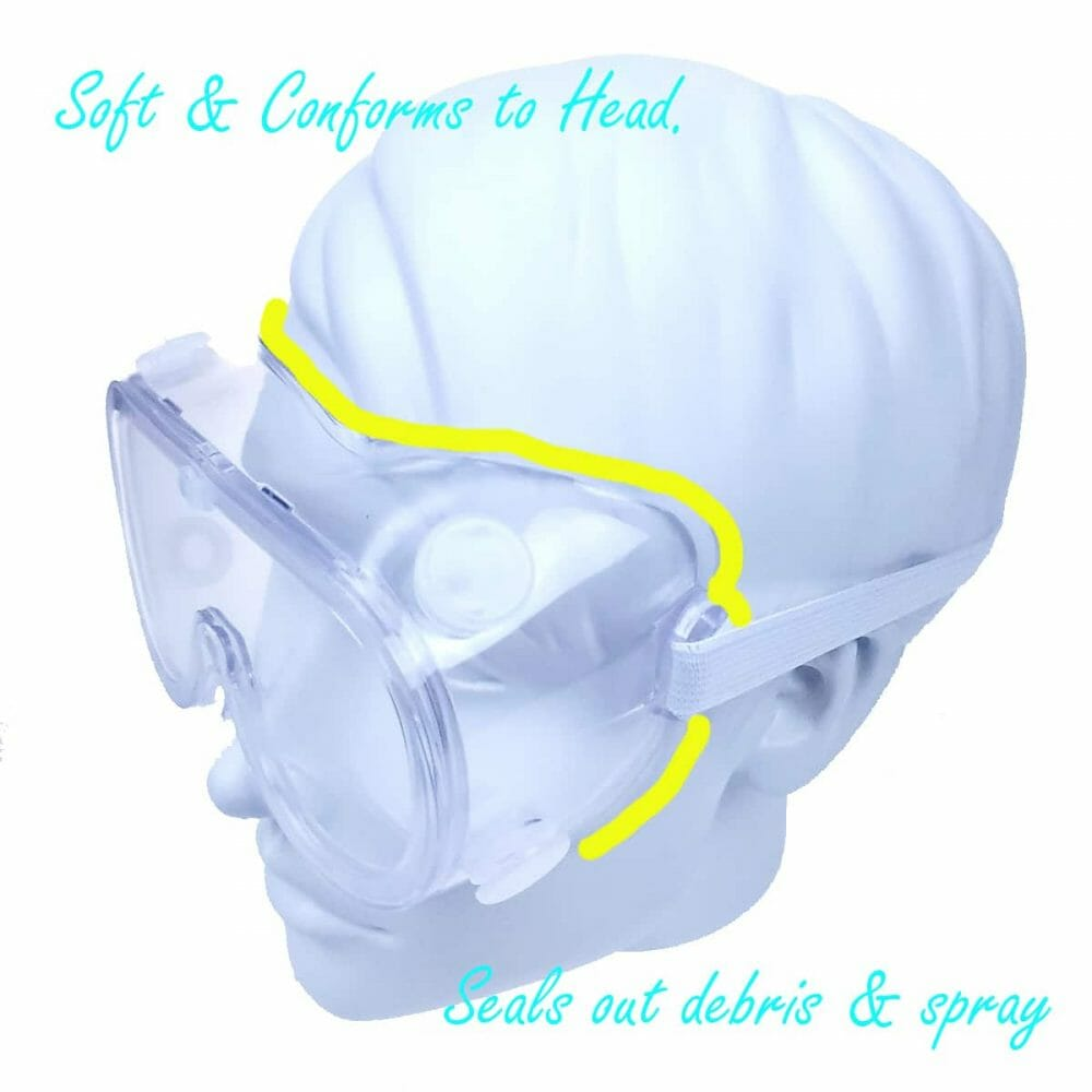 Bikershades Lab Medical Goggles Elastic Strap