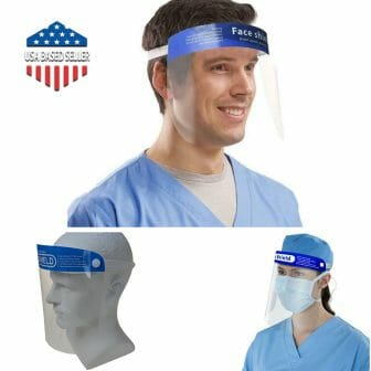 Face Shield Clear Protective Mask Transparent Washable