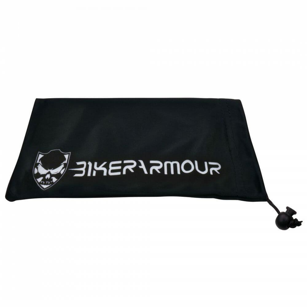Bikershades Microfiber Cleaning Pouch Sunglass Case Motorcycle Drawstring