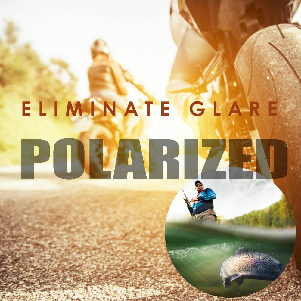 bikershades polarized sunglasses for riding eliminates glare