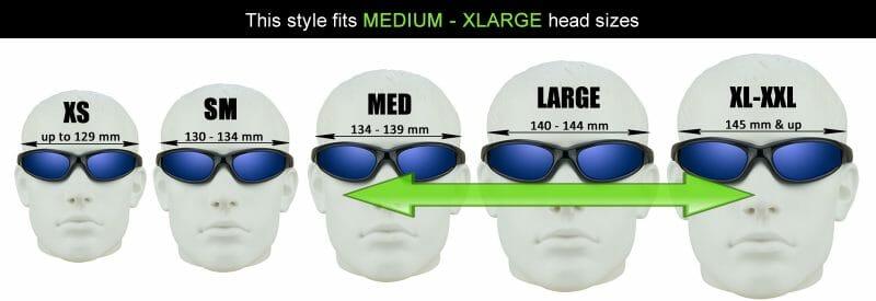 Bikershades Sunglass Head Size Chart